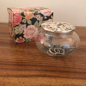 Vintage Catchall w/ decorative Lid and Box